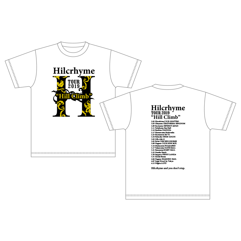 "Hilcrhyme Tour 2019""Hill Climb"" T-shirt / White"