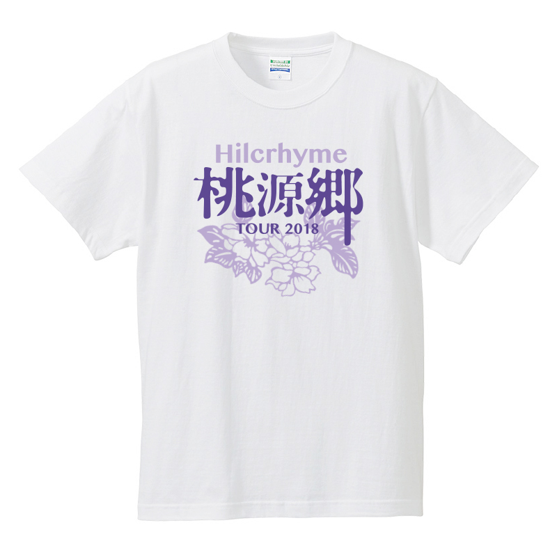 "Hilcrhyme Official FC 4Seasons Tour ""桃源郷"" Tour 2018 〈TALK & LIVE〉 Tシャツ/白"