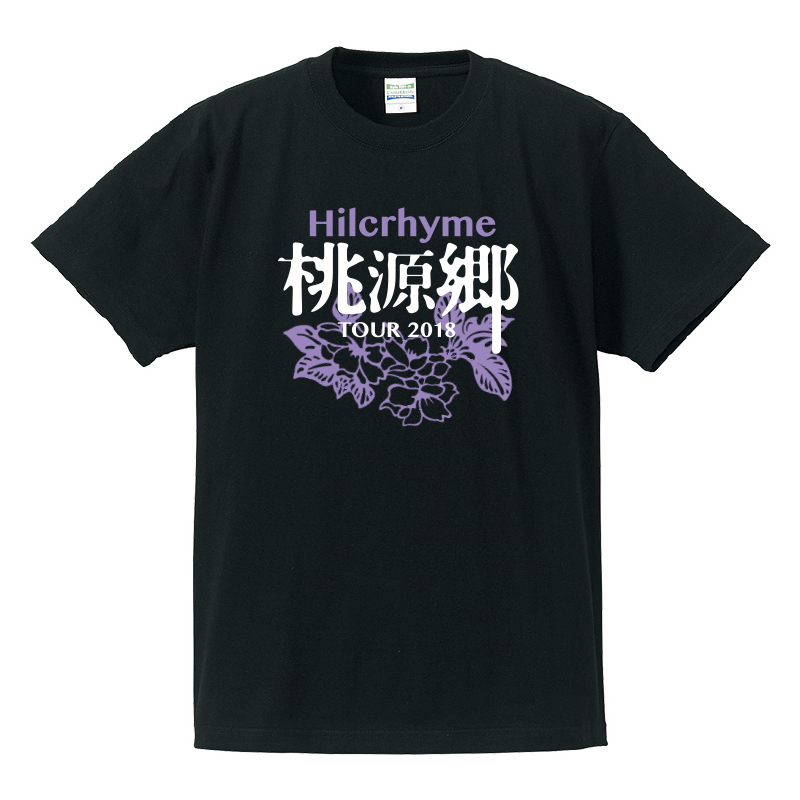 "Hilcrhyme Official FC 4Seasons Tour ""桃源郷"" Tour 2018 〈TALK & LIVE〉 Tシャツ/黒"