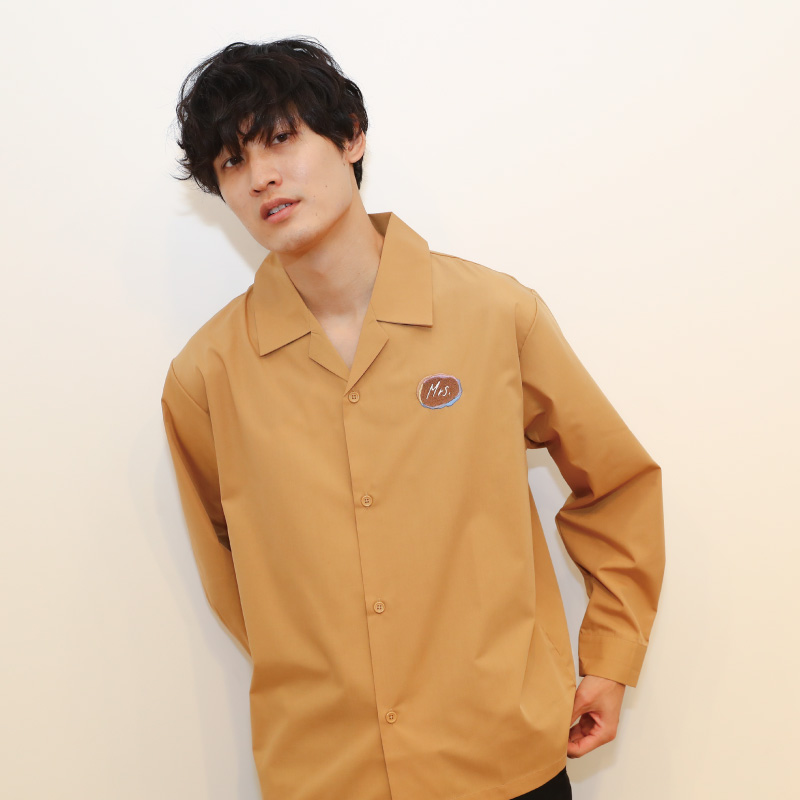 OPEN COLLAR SHIRT(Long sleeves)  / Beige
